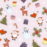 Naadloze de kleur van Kerstmis Stock Foto's
