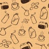 Naadloze de koffie van Grunge Royalty-vrije Stock Foto