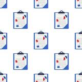 Naadloze de Pillen van medische dossierstabletten vector illustratie
