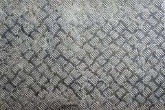 Naadloze de plaattextuur van de staaldiamant, zwart-witte roestige tekst Stock Afbeeldingen
