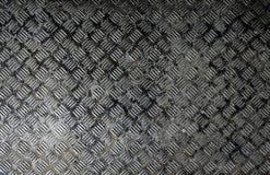 Naadloze de plaattextuur van de staaldiamant, zwart-witte roestige tekst Royalty-vrije Stock Foto