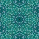 Naadloze de textuurachtergrond van de mozaïekcaleidoscoop - blauwgroen gekleurd met grijze pleister Royalty-vrije Stock Afbeelding