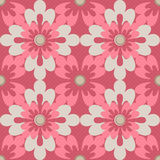 Naadloze de textuurachtergrond van patroon bloemenelementen Stock Afbeelding