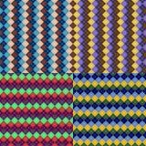Naadloze de textuurstijlen van het argylepatroon vector illustratie