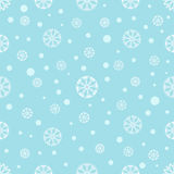 Naadloze de winterachtergrond met sneeuwvlokken Royalty-vrije Stock Foto's