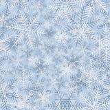 Naadloze de winterachtergrond van sneeuwvlok. Stock Afbeelding