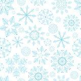 Naadloze de wintertextuur met sneeuwvlokken De achtergrond van het nieuwjaar Ruimte voor uw tekst Alle voorwerpen zijn op afzonde stock illustratie