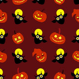Naadloze decoratieve achtergrond Gelukkig Halloween Stock Illustratie