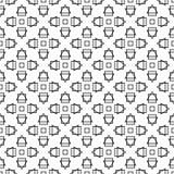 Naadloze decoratieve achtergrond met abstracte cijfers Stock Illustratie