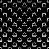 Naadloze decoratieve achtergrond met abstracte cijfers Vector Illustratie