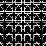 Naadloze decoratieve achtergrond met abstracte cijfers Royalty-vrije Illustratie