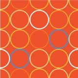 Naadloze decoratieve achtergrond met cirkels, knopen en stippen Vector Illustratie