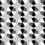 Naadloze decoratieve achtergrond met geometrische vormen Stock Illustratie