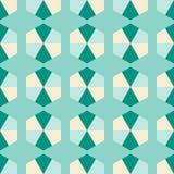 Naadloze decoratieve achtergrond met geometrische vormen Royalty-vrije Illustratie