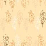 Naadloze decoratieve achtergrond met takken en bladeren Royalty-vrije Illustratie