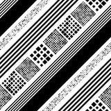 Naadloze Diagonale Streep en Vierkant Patroon Stock Foto's