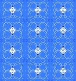 Naadloze diamant en van het cirkelspatroon blauwe grijs Royalty-vrije Stock Afbeeldingen