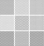 Naadloze diamantenpatronen Geometrische geplaatste texturen royalty-vrije illustratie