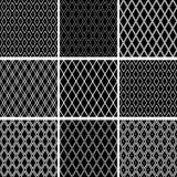 Naadloze diamantenpatronen Geometrische geplaatste texturen vector illustratie