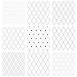 Naadloze diamantenpatronen Geometrische van tralies voorzien texturen royalty-vrije illustratie