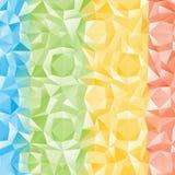 Naadloze die Achtergrond met abstractlpatroon van kleurrijke geom wordt gemaakt vector illustratie
