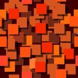 Naadloze die achtergrond uit vierkanten wordt samengesteld De vliegtuigen zijn monophatically geschilderd Met verschillende inten Stock Fotografie