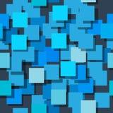 Naadloze die achtergrond uit vierkanten wordt samengesteld De vliegtuigen zijn monophatically geschilderd Met verschillende inten Stock Foto's