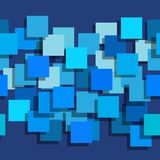 Naadloze die achtergrond uit vierkanten wordt samengesteld De vliegtuigen zijn monophatically geschilderd Met verschillende inten Stock Foto