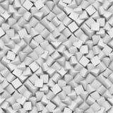 Naadloze die achtergrond van diagonale geschikte kubussen in schaduwen van wit wordt gemaakt Stock Afbeeldingen