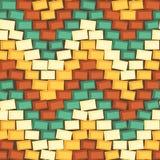 Naadloze die achtergrond van kleurrijke bakstenen wordt gemaakt royalty-vrije illustratie