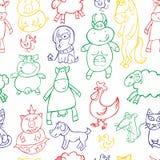 Naadloze dieren Stock Afbeelding