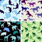 Naadloze dierlijke patronen Stock Afbeeldingen