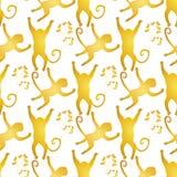 Naadloze dierlijke textuur royalty-vrije illustratie
