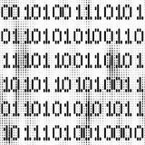 Naadloze digitale achtergrond met beetjecijfers Stock Fotografie