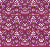Naadloze donkerrode violette purpere groen van het zigzagpatroon Stock Foto