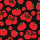 Naadloze druk van tomaten vector illustratie