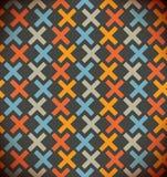 Naadloze eenvoudige geometrische achtergrond. Geruit kleurrijk patroon. Geborduurde decoratieve achtergrond Royalty-vrije Stock Foto's