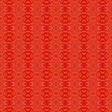 Naadloze ellipsen en rode geel van het diamantpatroon Stock Fotografie