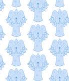 Naadloze engelen royalty-vrije illustratie