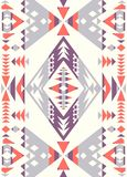 Naadloze etnische patroontexturen Orange&Purplekleuren vector illustratie