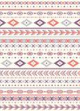 Naadloze etnische patroontexturen Orange&Purplekleuren Stock Foto
