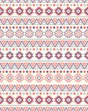Naadloze etnische patroontexturen Orange&Purplekleuren stock illustratie