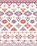 Naadloze etnische patroontexturen Orange&Purplekleuren De geometrische druk van Navajo Rustiek decoratief ornament Royalty-vrije Stock Afbeeldingen