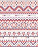 Naadloze etnische patroontexturen Oranje & purpere kleuren Royalty-vrije Stock Afbeelding