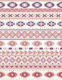 Naadloze etnische patroontexturen Oranje & purpere kleuren vector illustratie