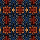 Naadloze etnische stammen de stijlachtergrond van het krabbel vectorpatroon Royalty-vrije Stock Fotografie