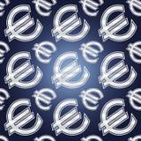 Naadloze euro symbolen Stock Afbeeldingen