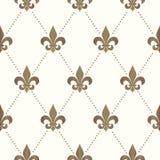 Naadloze Fleur De Lis Pattern Royalty-vrije Stock Afbeelding