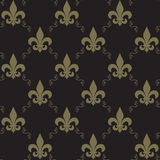 Naadloze Fleur De Lis Pattern Royalty-vrije Stock Afbeeldingen