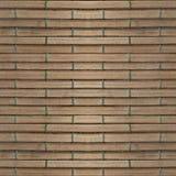 Naadloze fototextuur van de mat van het brownnstro met groen koord Stock Fotografie
